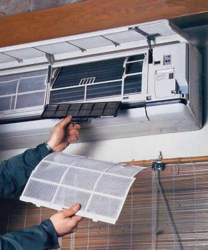 Как чистить фильтр кондиционера, в частности, как почистить домашний кондиционер