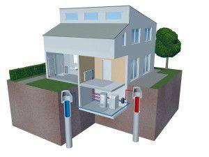 Пример геотермального отопления дома