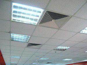 Вентиляция подвесного потолка
