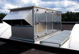 Центральный кондиционер с выходом на крышу