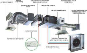 Функциональные элементы системы вентиляции