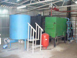 Водяное отопление цеха деревообработки