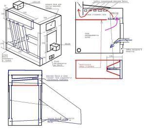Схема изготовления котла длительного горения с теплообменником