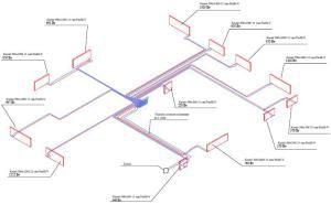 Пример схемы лучевого отопления