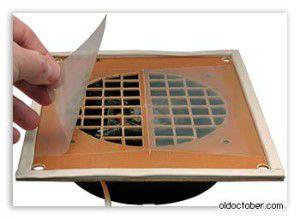 простейший самодельный обратный клапан для вентиляции
