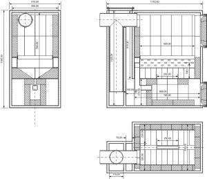 Один из вариантов конструкции отопительного котла, развивающего мощность 45 кВт
