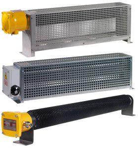 Промышленные электрические конвекторы обладают защитой и допущены к установке даже в пожароопасных помещениях