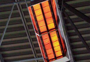 Лучистая энергия вырабатывается непосредственно над обогреваемой зоной