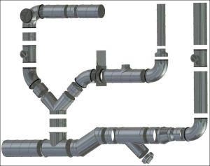 Многие системы вентиляции собраны из круглых элементов