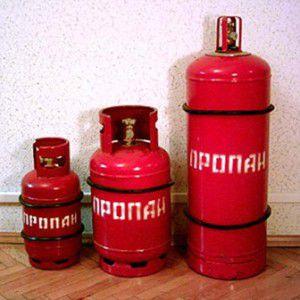 Сжиженный газ для отопления хранят и перевозят в металлических баллонах