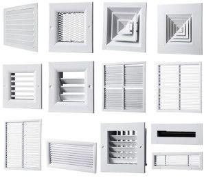 разные виды вентиляционных решеток