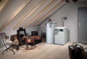 газовый котел можно установить даже в мансарде