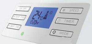 Панель управления и дисплей на корпусе мобильного кондиционера ELECTROLUX