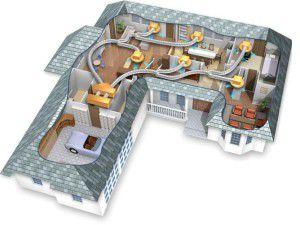 канальная сплит-система с воздуховодами