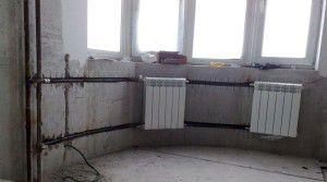 Пример врезки в центральное отопление