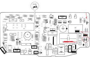 печатная схема платы управления кондиционера