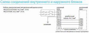 электрическая схема подключения кондиционеров МИЦУБИСИ