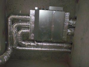 внутренний блок с воздуховодами