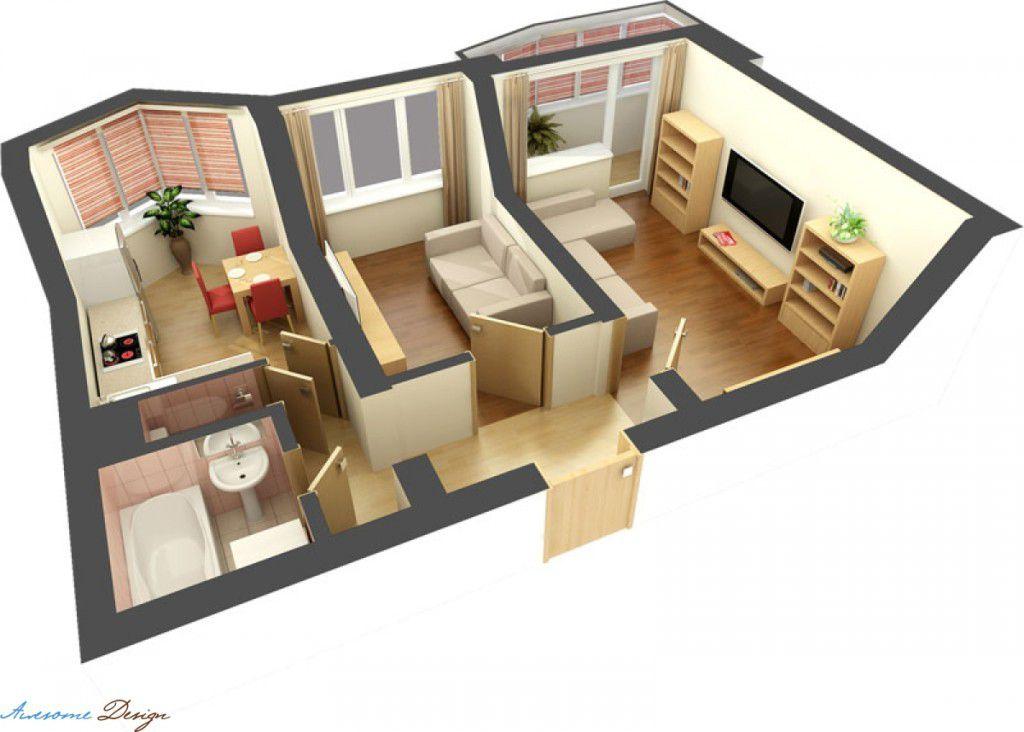 Дизайн в 2 комнатной квартире хрущевке