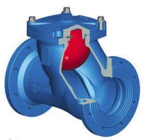 Схема работы шарового обратного клапана