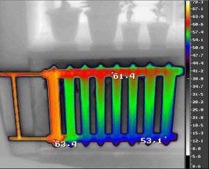 Термограмма как один из способов обнаружения воздушных пробок