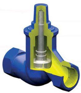 Подъемный обратный клапан для центрального отопления