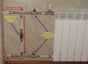 Правильная обвязка радиатора однотрубной горизонтальной системы отопления