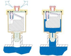 Конструкция, принцип работы воздухоотводчика