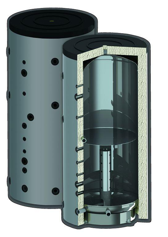 схема изготовление накопительного бака отопления