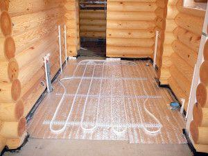 Водяные теплые полы, как альтернатива классической схеме отопления в деревянном доме