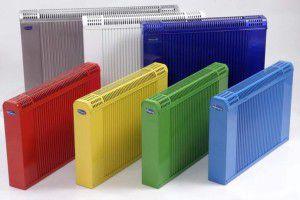 Стальные батареи различных цветов с заводской покраской