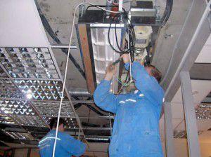 обслуживание потолочного блока