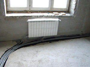 Укладка труб отопления под полом