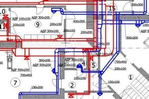 пример монтажной схемы приточно-вытяжной вентиляции