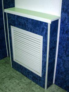 Пластиковая решетка на радиатор отопления