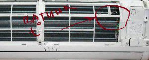 термодатчик во внутреннем блоке