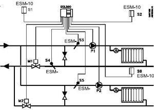 Пример схемы подключения контроллера