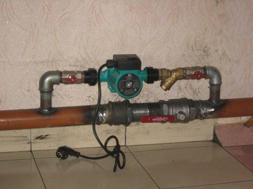 Насос для отопления в частном доме установка