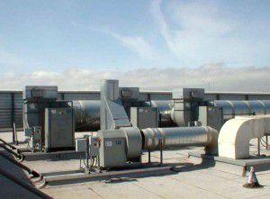 часто оборудование размещается на крыше