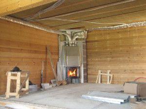 Монтаж камина с воздушным отоплением