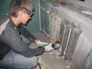 Очистка поверхности радиатора