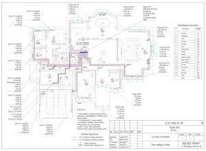 Подробная схема отопления дома