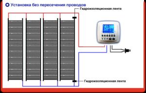 Подключение пленки к терморегулятору