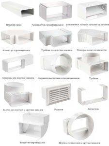 элементы пластиковой вентиляции