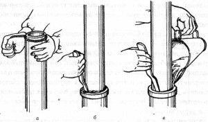 самостоятельная герметизация раструбного соединения