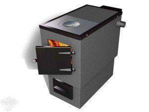 Стальная печь с водяным теплообменником