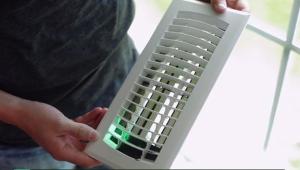 приточная вентиляционная решетка с электрорегулируемыми ставнями