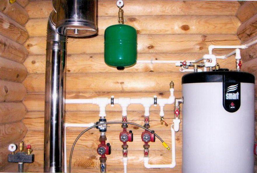 Отопления в деревянном доме своими руками