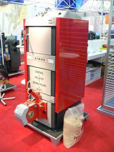 Комбинированный отопительный котел дрова-газ