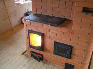 Кирпичная печь для воздушного отопления